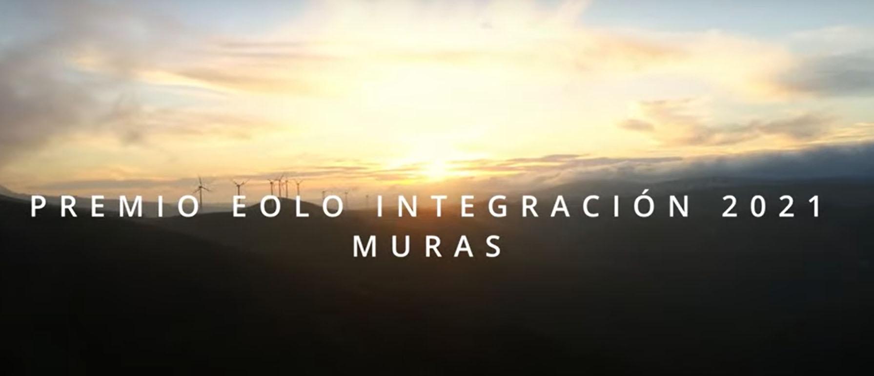 Premio EOLO 2021 Integración Rural de la Eólica para Muras